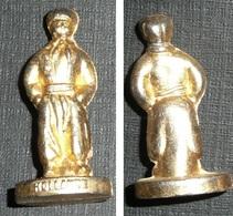 Rare Figurine Métal Doré, Kinder Vintage, Personnage Hollandais, Hollande Pays-Bas, Nederland - Figurines En Métal