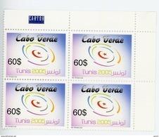 Cap Vert-Cabo Verde-2005-Congrès Mondial D'informatique à Tunis-YT 839***MNH EN BLOC DE 4 - Cap Vert