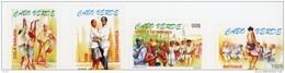 Cap Vert-Cabo Verde-1999-Danses Folkloriques, Musique-738/41***MNH- - Cap Vert