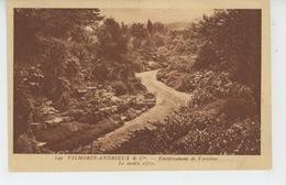 VERRIERES LE BUISSON -  Etablissement VILLEMORIN ANDRIEUX Et Cie - Le Jardin Alpin - Carte PUB AVIS DE PASSAGE - Verrieres Le Buisson