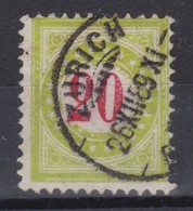 SUISSE Taxe 1889-91:   20 C. Vert Clair  (ZNr 19 Da II N) Oblitéré - Portomarken