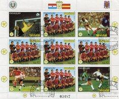 FIFA WORLD CUP SPAIN / COPA MUNDIAL DE FUTBOL ESPAÑA '82 - PARAGUAY 1982 FEUILLET AEREO N° 904 OBLITERE - LILHU - World Cup
