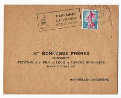 """ALGER """"Parrainez Le Village Kangourou"""" - Oblit. 5.6.1961 - Pour Bonasse Frères à Marseille- Canebière - Algérie (1924-1962)"""