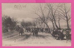 SHANGHAI - Le BUND Très Animée Charettes Et Personnages - 1906 - China