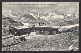 Zermatt Station Gornergrat - Bahnhof - Belebt - Animée - Chemin De Fer - Bahn - 1906 - VS Valais