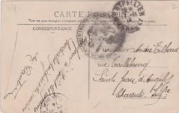 Bg - Cachet FM - Hopital Temporaire N° 1, Montpellier (1914) Sur Carte Postale - Marcophilie (Lettres)