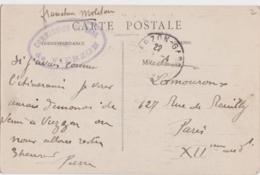 Bg - Cachet FM - Commission De Gare De VIERZON - Sur Carte Postale De Vierzon Bourgneuf - Marcophilie (Lettres)