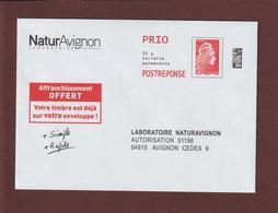 PAP - N° Au Dos: 199732 - Neuf ** - LABORATOIRE NATURAVIGNON  - Repiquage Marianne L'ENGAGEE - Face & Dos - Entiers Postaux