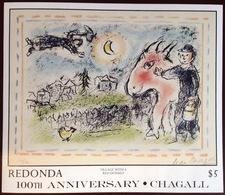 Antigua Redonda 1987 Chagall Minisheet MNH - Antigua And Barbuda (1981-...)