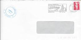 SARTHE 72  -  MAMMERS  -  FLAMME VOIR DESCRIPTION  -  1996  -  THEME SITES - Marcophilie (Lettres)