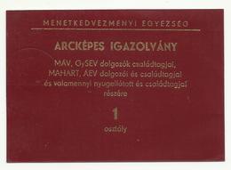 Hungary,  Railroad Id,1984-. - Abonnements Hebdomadaires & Mensuels