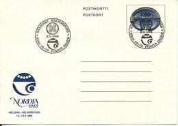 Finland Postcard Postal Stationery FDC 2-11-1984 Nordia 1985 - Finland
