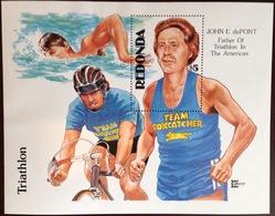 Antigua Redonda 1987 Triathlon Minisheet MNH - Antigua And Barbuda (1981-...)