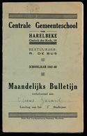 HARELBEKE - MAANDELIJKS BULLETIJN 1947 - 48  ZIE MEERDERE AFBEELDINGEN  17 X 10.5 CM - Harelbeke