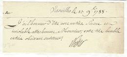 Jacques Necker (1732-1804) AUTOGRAPHE ORIGINAL AUTOGRAPH 1788 /FREE SHIP. R - Autographes