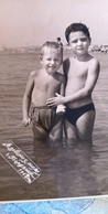 Azov Sea, USSR. Little Boy On The Beach Semi Nude Naked Old Vintage Original Real Photo 1968 - Anonymous Persons