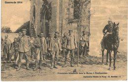 GUERRE 1914 1918 .... PRISONNIERS ALLEMANDS DANS LA MARNE A NEUFMOUTIERS - Guerra 1914-18