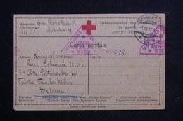 ALLEMAGNE - Carte Croix Rouge De Prisonnier De Guerre , Censure De Wien En 1917 - L 22399 - Covers & Documents