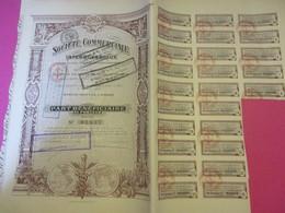 Part Bénéficiaire Au Porteur /Société Commerciale Interocéanique/ Ancienne Maison Ch Kronheimer /Paris /1916      ACT222 - Navigation