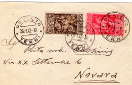 Italia  Regno  Tito Livio  Cent. 20 + 10  ---  30 + 15 Terni   Del  29 - 1 - 1942 - Storia Postale (Posta Aerea)