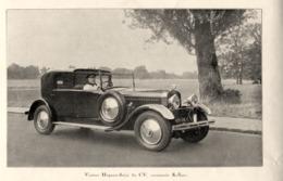 """#02 Reproduction Photo Publicitaire 1928 """"Hispano -Suiza 32 CV, Carrosserie Kellner"""", Sur Carte Postale - Toerisme"""