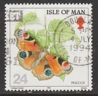 Isle Of Man 1993 Butterflies 24 P Multicoloured SW 553 O Used - Isle Of Man