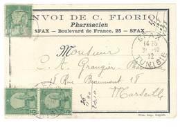Carte Envoyée De Sfax , Tunisie - C. Florio , Pharmacien - Tunisie