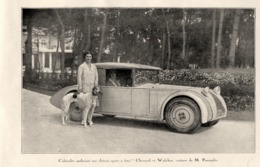 """#03 Reproduction Photo Publicitaire 1928 """"Cabriolet-Chenard Et Walcker- 1500 Cm3"""", Sur Carte Postale - Voitures De Tourisme"""