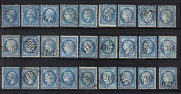 France : Lot De 27 Timbres (n°22-29-60) Oblitérés GC, Pas D'aminci, Dentelure Voir Scan. - France