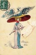Cpa Art Nouveau Avec Chapeau Illustrateur Ravot Dernier Cri - Moda