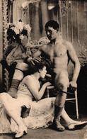 LOT DE 8 CPA PHOTO PORNOGRAPHIQUE - COUPLE - Nus Adultes (< 1960)