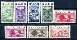 Z1403 ITALIA EMISSIONI LOCALI CLN AOSTA 1944, Soggetti Vari, MNH, Serie Completa, Valore Catalogo € 75, Ottime Condizion - 4. 1944-45 Social Republic