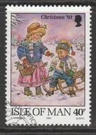 Isle Of Man 1993 Christmas 40 P Multicoloured SW 558 O Used - Isle Of Man