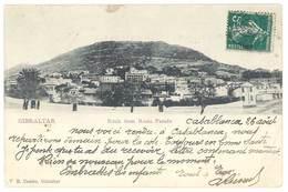 Cpa Gibraltar - Rock From Rosia Parade ( écrite De Casablanca ) - Gibraltar