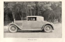 """#04 Reproduction Photo Publicitaire 1928 """"Delahaye 6 Cylindres"""", Sur Carte Postale - Toerisme"""