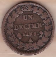 Directoire. Un Decime L'An 5 A Paris . - D. 10 Centimes