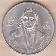 Mexique 100 Pesos 1978 Mo , En Argent . KM# 483.2 - Mexico