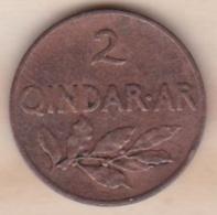 Albanie 2 Qindar Ari 1935 R . KM# 15 - Albania