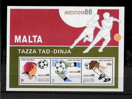 Malta, 1986 Mexico 86 World Cup, Mini Sheet MNH (7440) - Malte