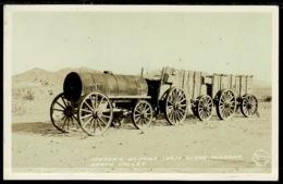 Ref 1273 - Real Photo Postcard - Mule Team Borax Wagon - Death Valley California USA - Death Valley