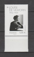 FRANCE / 2019 / Y&T N° ?2019/02/11 ** : Louise De Vilmorin BdF Bas - Gomme D'origine Intacte - France