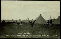 Ref 1273 - 1909 Real Photo Postcard - Military Tournament Camp William Taft Toledo Ohio USA - Toledo