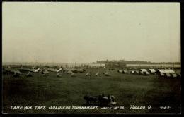 Ref 1273 - 1909 Real Photo Postcard - Military Tournament Camp Wm Taft Toledo Ohio USA (2) - Toledo