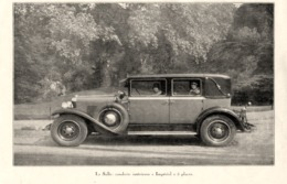 """#05 Reproduction Photo Publicitaire 1928 """"La Salle - Impérial- 5 Places"""", Sur Carte Postale - Voitures De Tourisme"""