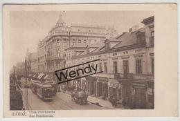 Lodz (Rue Piotrkowska Met Tram) - Pologne
