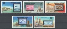 Tchad - YT 324 + PA 192-195 ** - 1977 - Zeppelins - Zeppelins