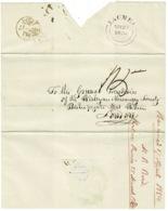 Ref 1273 - 1854 Outer Cover - GB Jacmel Postmark - Haiti To Wesleyan Missionary Society London - Haiti