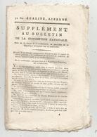 Bulletin De La Convention Nationale,l'an IV, Détails De Conspiration , 8 Pages , Frais Fr 1.95 E - Decrees & Laws