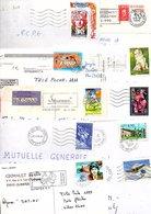 FRANCE MARCOPHILIE LOT DE TP SEULS SUR LETTRES ANNEES 90 - POIDS 900 GRAMMES - Stamps