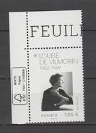 FRANCE / 2019 / Y&T N° ?2019/02/11 ** : Louise De Vilmorin CdF FSC - Gomme D'origine Intacte - France